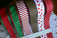 GROSGRAIN Spots or Stripes - 3 Metre Lengths 38mm Wide 6 Variety Choice May Arts