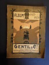 """RARE Album 1907-1908 GENTIL & Cie"""" Catalogue de pièces détachées cycles et auto"""