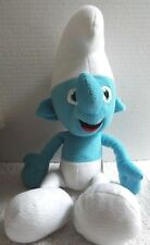 "The Smurfs 15"" Soft Plush Stuffed Doll Blue & White Toy 2011, Embroidered Eyes"