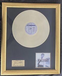 "JOHNNY HALLYDAY - DISQUE D'OR "" ROCK N ROLL ATTITUDE "" 1998"