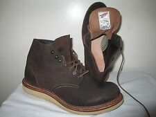 RED WING FOR J. CREW 4573 ROUND TOE IN CHOCOLATE ROUGHOUT BOOTS US 11 D UK 10