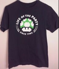 "Super Mario Bros. - 1 Up Mushroom - ""Life of the Party Since 1985"" T-Shirt-Sz: S"