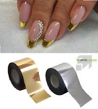 1 pezzi 4cm x 100cm ORO trasferimento Pellicola Unghie Nail Art Design Tatuaggio Pellicola unghie