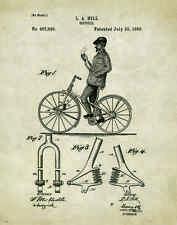 Bicycle Patent Poster Art Print Vintage Bike Parts Service Repair Toys PAT373