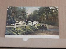 Postcard Ivy Bridge Brockenhurst Hampshire posted 1908 .XC3