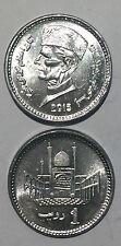Pakistan 1 Rupee 2013-2015 20mm aluminum coin UNC 1pcs