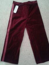 BNWT Linea Girls red velvet Trousers  Age 3-4