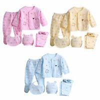 Infant Unisex Boy Girl 5Pcs/Set Newborn Baby Pants+T-Shirt Outfit Cotton Clothes
