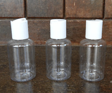 Pack of Three Flip Top 50ml Plastic Bottles - Travel / Handbag Size / NEW