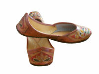 Women Shoes Indian Handmade Ballerinas Brown Leather Jutties UK 4.5 EU 37.5