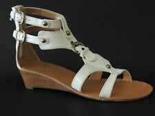 Nine West Women's Rightway-L1 Wedge Sandals White Size 7.5 (B, M)