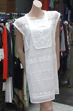 Joseph Ribkoff BNWT 12 Stunning Extra Long Cream Cami & Lacy White Tunic Dress