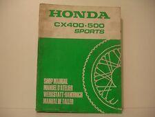 HONDA CX400/CX500 SPORTS MANUEL ATELIER WORKSHOP MANUAL DE TALLER ref : 66MC500