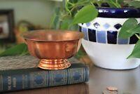 Coppercraft Guild Small Bowl with Pedestal Base - Succulent Planter Décor Bowl