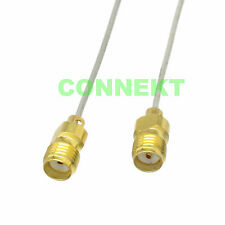 "SMA female to female semi-rigid copper tube RG047 0.047"" cable pigtail 10cm 4"""