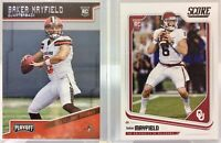 2018 Playoff & Score Football #202/#351 BAKER MAYFIELD (RC) Rookie Card Lot of 2