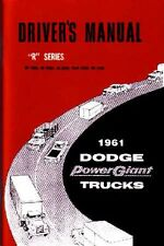 1961 Dodge WC Series Truck Owners Manual User Guide Reference Operator Book Fuse