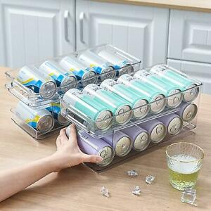 Refrigerator Storage Box Double-layer Rolling Cans Beer Finishing Storage Rack