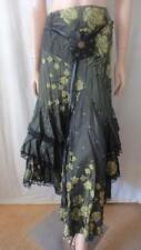 JANE CAMPIONE Green Crinkly Lace Skirt With Belt Sz 38 (10)