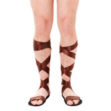 Adult Roman / Greek Ancient Warrior One Size Sandals Fancy Dress Accessory