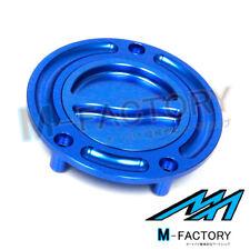 Billet Blue Keyless Fuel Gas Cap Fit CBR 400 600 F4I 900 1000 954 929 RR