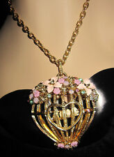 BETSEY JOHNSON MARIE ANTOINETTE FLOWER BIRDCAGE NECKLACE