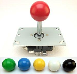 Arcade Joystick   8 Wege   33mm Ball   Rot,Grün,Blau,Gelb,Schwarz,Weiß