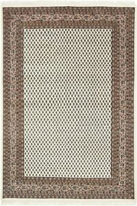 """Indian Hand-Knotted Area Rug Mir Oriental Carpet For Home Decor 6' 5"""" x 9' 7"""" ft"""