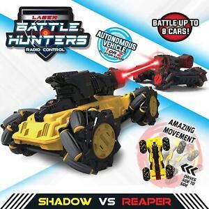Laser Battle Hunters SHADOW VS REAPER Radio Controlled 2 Vehicle Combat Box Wear