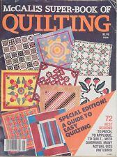 McCalls's Super Book of Quilting 1978 72 Best Designs Applique Patch Vintage