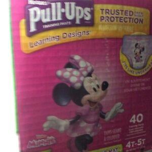 Huggies 40pc 38-50 Lbs. Pull Ups Size 4T-5T Day & Night Minnie&Doc McStuffins