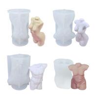 DIY Men Women Human Body Shap Plaster Decor Mold Candle Durable Silicone Mold
