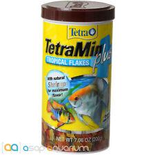 Tetra TetraMin Plus Tropical Flakes Fish Food 7.06 oz Natural Shrimp Enhanced