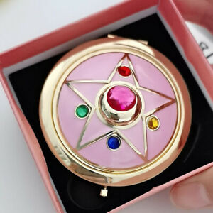 Sailor moon R Crystal Star Case cosmetic make up Compact Travel Folding MIRROR