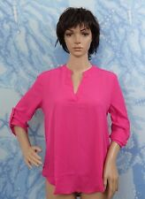 new LE LIS pink V neck pull on 3/4 sleeve blouse, size S