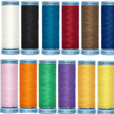 Gutermann 100% Silk Sewing Thread 100m Dressmaking Natural Fibre Fabrics