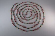 """Vintage 101"""" Mercury Glass Christmas Garland Multi-Color Beads & Double Indents"""