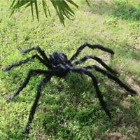 200CM/266g Plush Giant Spider Decoration Halloween Haunted House Garden Props WJ
