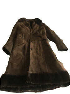 Dark Brown Sheepskin Coat Ladies Medium