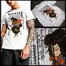 Bushido Samurai Warrior With Japanese Kanji Cotton T-Shirt Katana sword new tee