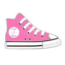 Breast Cancer Awareness Lapel Pin Pink Ribbon High Top Shoe Sneaker Walking New