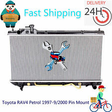 Radiator For Toyota RAV4 Petrol 1997-9/2000 Pin Mount Auto/Manual Fast Shipping