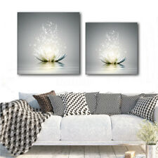 Lotus Flowers Framed Abstract Canvas Pictures Modern Home Wall Art Print Decor
