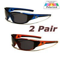 2 Pair Polarized Nitrogen Men Anti Glare Fishing Driving Sport Sunglasses New US