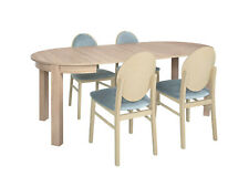Set small round table in oak Sonoma & 4 chairs, extending to 195cm, high quality