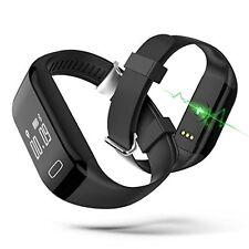 Bluetooth Wireless Smart Wristband Caller ID Heart Rate Sport Watch Bracelet