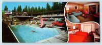 Lake Tahoe, CA - PIONEER TRAIL MOTEL PANORAMA ROADSIDE PC - HWY 50 - TV ON