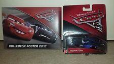 Jackson Storm Disney Pixar Cars 3 Diecast Raro Con Poster De Coleccionistas