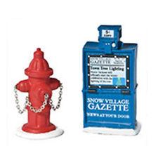 Dept 56 Villages Fire Hydrant, Paper Box 809013 NIB