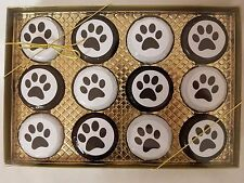 Chocolate Covered Oreo Cookie 12 Pack Gift Box Puppy Paw Prints